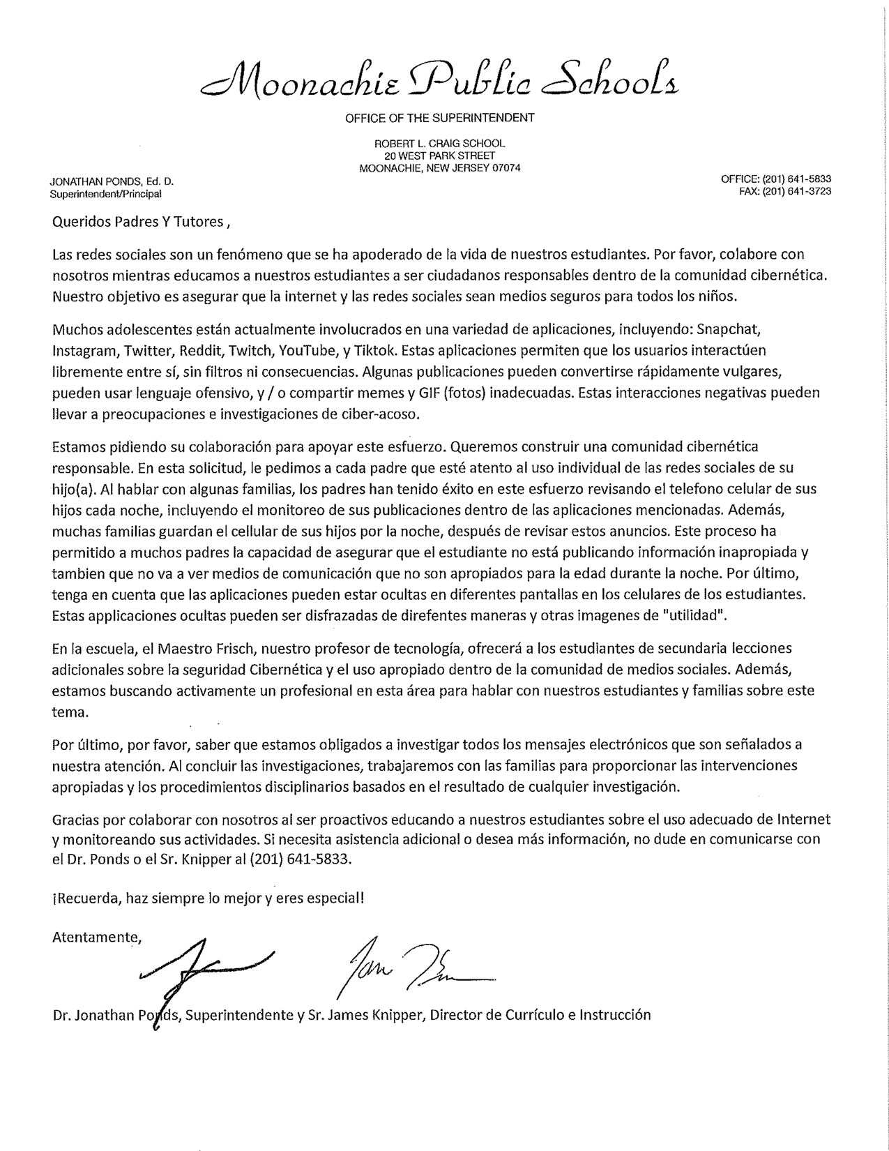 Seguridad en Internet Carta
